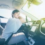 Sleepy female driver