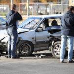 Car crash caused by drunk driving behavior