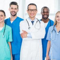 multiethnic team of doctors