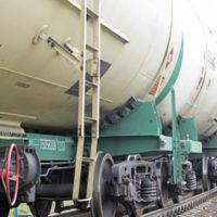 Oil train on tracks