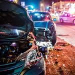Car crash with police presence